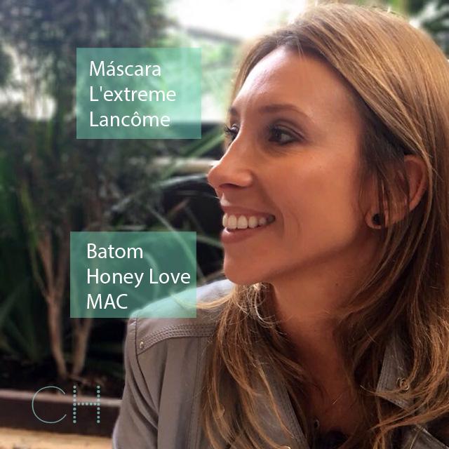 Beleza do Brasil • A Dani deu destaque aos cílios usando a máscara L'extreme da Lancôme e nos lábios o nude lindo da MAC, o Honey Love