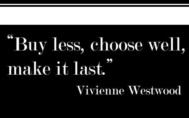 Vivienne Westwood sobre acultura de consumo e uma atitude sustentável